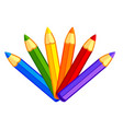 fun kids bright cartoon color pencils vector image vector image