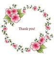 Garland with hand drawn flowers and leaf vector image vector image