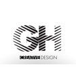 gh g h lines letter design with creative elegant vector image vector image