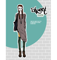 girl street fashion look vector image