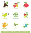 Icons and Design Elements for Organic Food vector image