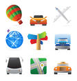 Icons for transportation vector image vector image