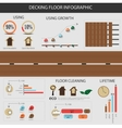 Infographic decking floor vector image