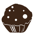 isolated muffin silhouette vector image vector image