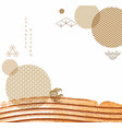 japanese background with geometric pattern brush vector image vector image
