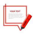 marker text box vector image