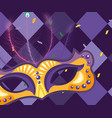 mask and harlequin background vector image vector image
