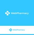 medical cross logo web pharmacy emblem vector image vector image