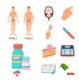 mellitus and diabetes vector image