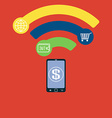 Mobile payment flat concept Near Field vector image