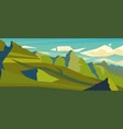 modern landscape background mountain peaks vector image