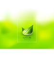 Nature green leaf concept vector image