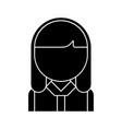 office woman head icon black vector image