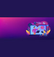 online webinar header banner vector image