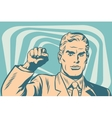 Politician protest solidarity gesture up fist vector image vector image