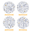 project management doodle concepts vector image vector image