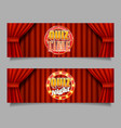 quiz game horizontal banner template set vector image