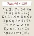 Ragged typewriter hand drawn font