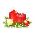 Red Christmas Candle vector image vector image