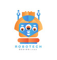 robotech logo design element for company identity vector image vector image