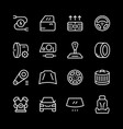 set of car related line icons vector image vector image