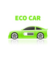 Silhouettes eco car vector image