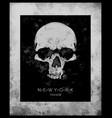 skull printskull evil skullconcert postersskull vector image vector image