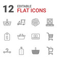 store icons vector image vector image