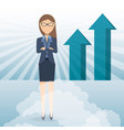succesful business woman showing business growing vector image