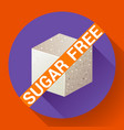 sugar free icon flat vector image
