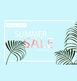summer sale banner with flamingo and tropical vector image vector image