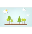 Trees under the clouds vector | Price: 1 Credit (USD $1)