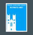 westminster abbey london uk monument landmark vector image vector image