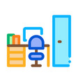 workplace rooms icon outline vector image vector image