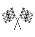 racing flags icon vector image