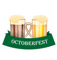 octoberfest festival card with beer vector image