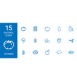 15 vitamin icons vector image vector image
