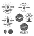 Vintage brewery logos labels and design elements