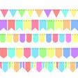 5 festoons flags retro colour stock vector image