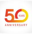 50 anniversary classic logo vector image vector image