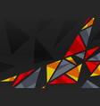 abstract geometric background with triangles on bl vector image vector image