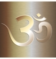abstract golden background with om mantra vector image vector image