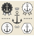 anchor vintage symbol emblem label collection vector image vector image