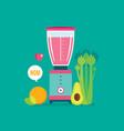 blender celery orange avocado and celery healthy vector image vector image