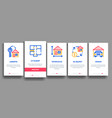 building house sale onboarding vector image