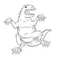 cartoon of monster tyrannosaur or dinosaur vector image