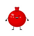 cartoon pomegranate fruit vector image