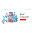charity landing page vector image vector image