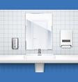colored public toilet interior concept vector image vector image