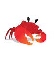 cute crab in a cool pose colorful vector image